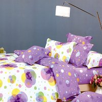 Pink Purple Neon, 100% Cotton 4PC Duvet Cover set (Full Size)